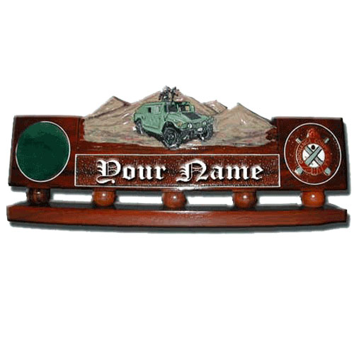 Humvee Desk Nameplate Model 2