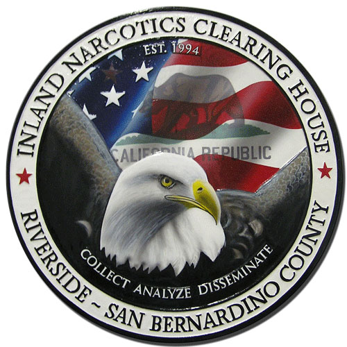 Inland Narcotics Clearing House INCH Seal Plaque