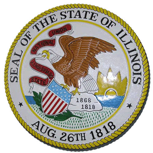 Illinois State Seal Plaque