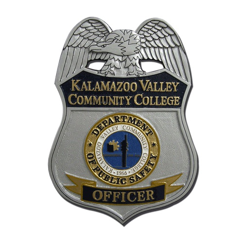 Kalmazoo Valley Comm College Officer Badge Plaque