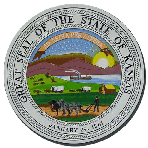 Kansas State Seal Plaque
