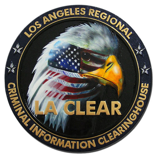 LA Criminal Information Clearinghouse LA CLEAR Seal Plaque