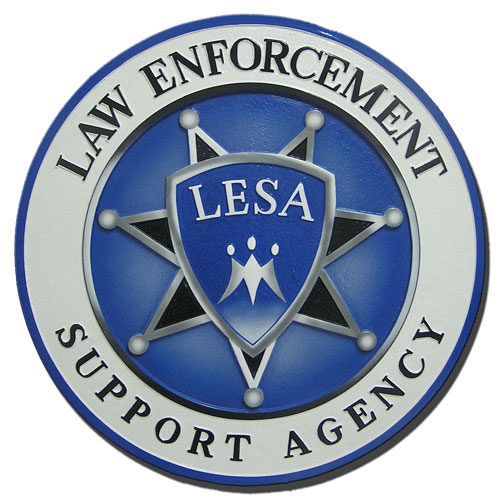 Law Enforcement Support Agency LESA Seal / Podium Plaque