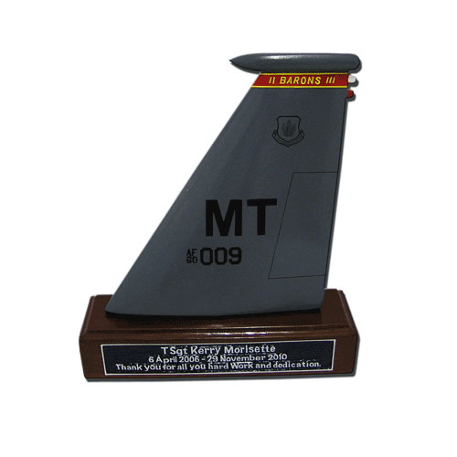 MT009 Desktop Tail Flash Plaque