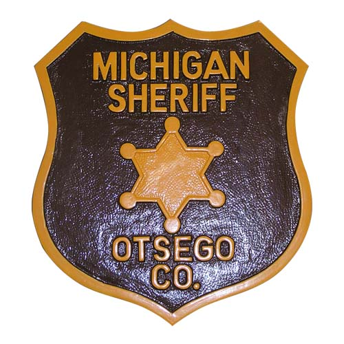 State of Michigan Sheriffs Patch Plaque