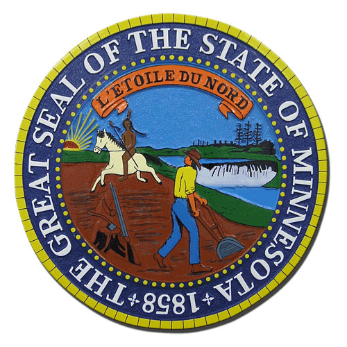 Minnesota State Seal Plaque