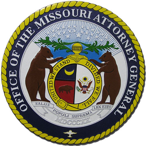 Missouri Attorney General Seal Plaque
