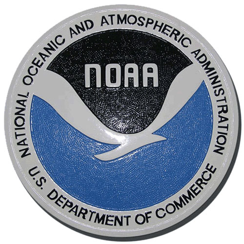 National Oceanic and Atmospheric Administration NOAA Seal Plaque