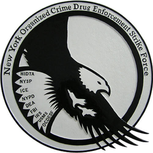 NY Organized Crime Drug Enforcement Strike Force Seal