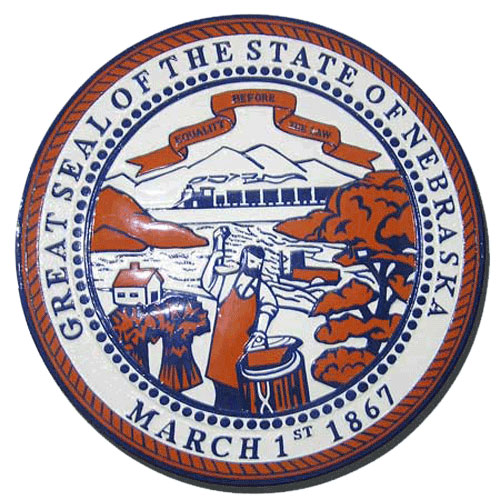 Nebraska State Seal Plaque