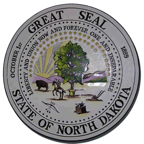 North Dakota State Seal Plaque