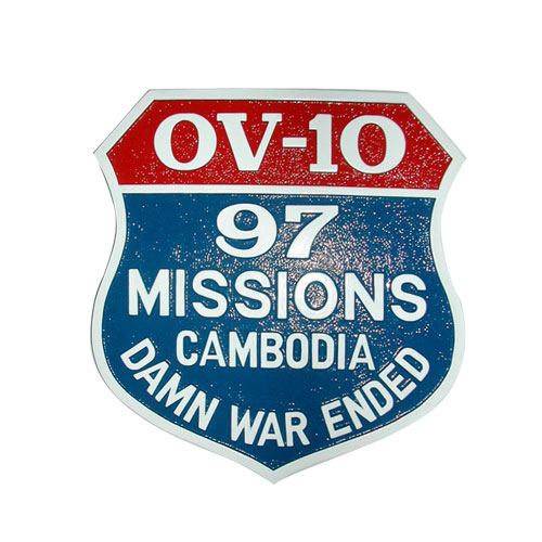 OV-10 Mission Patch Plaque