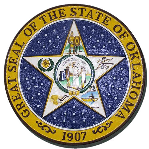 Oklahoma State Seal Plaque