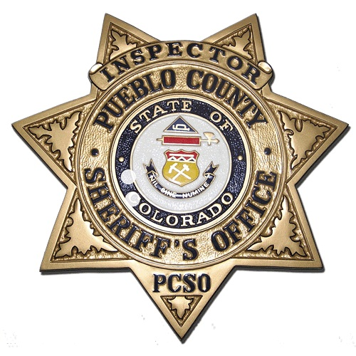 Pueblo County Sheriff's Office Badge Plaque