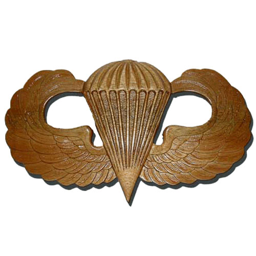 Parachutist Badge Jump Wings Plaque