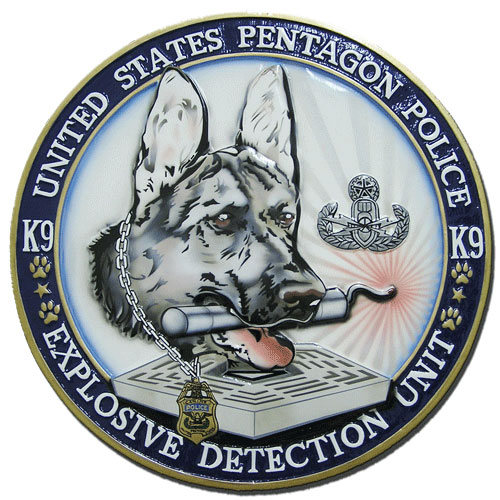 Pentagon Police Explosive Detection Unit K9 Seal