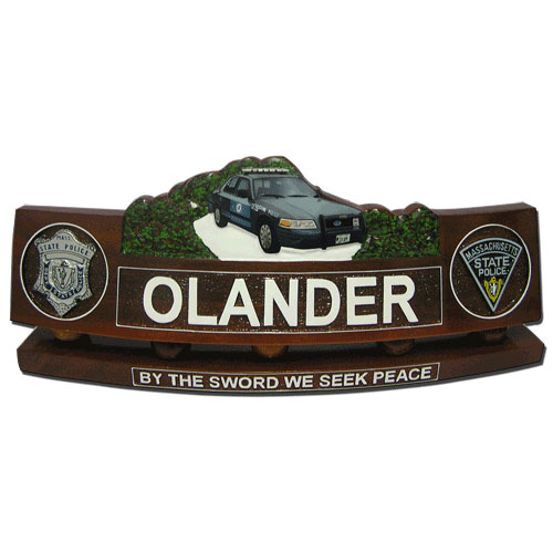 Police Patrol Car Desk Nameplate Model 2