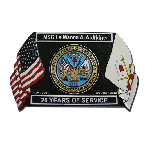 Presentation Retirement Plaque Black