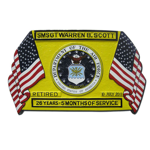Presentation Retirement Plaque Yellow