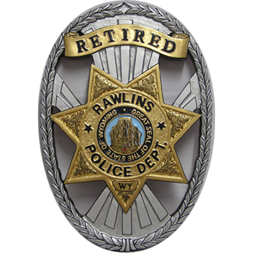 Rawlins Police Department Badge Plaque