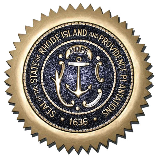 Rhode Island State Seal Plaque