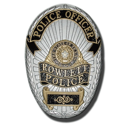 Rowlett Police Officer Badge Plaque