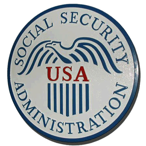 U.S. Social Security Administration Seal Plaque