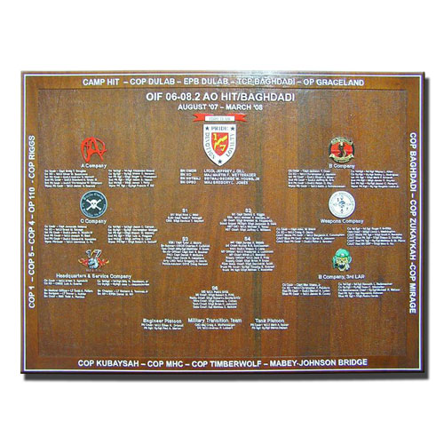 Screaming Eagle Deployment Plaque