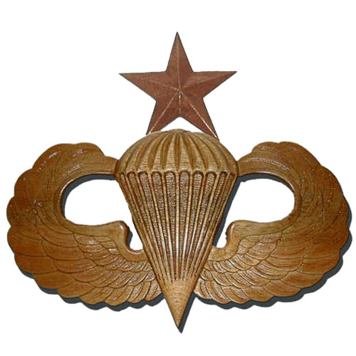 Senior Parachutist Badge Jump Wings Plaque