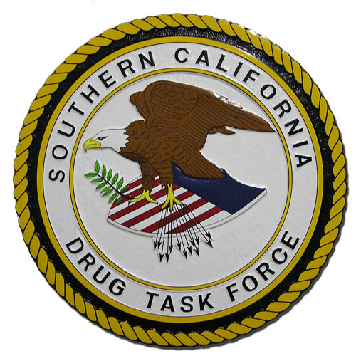 Southern California Drug Task Force SCDTF Seal Plaque