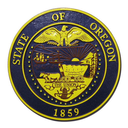 Oregon State Seal Plaque