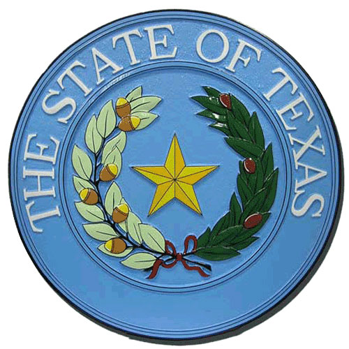 Texas State Seal Plaque