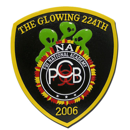 The FBI Glowing 224th Emblem