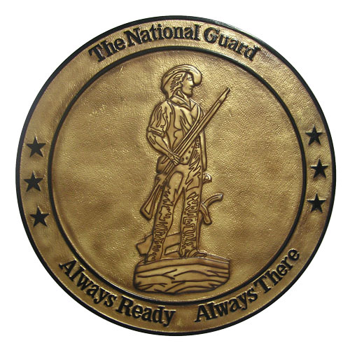 The National Guard Seal Antique Gold