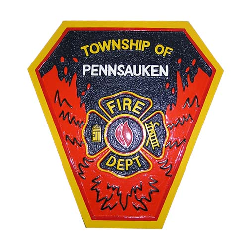 Township of Pennsauken Fire Department Patch Plaque