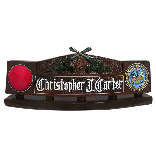 US Army Artillery Guns Desk Nameplate