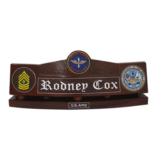 US Army Aviators Desk Nameplate