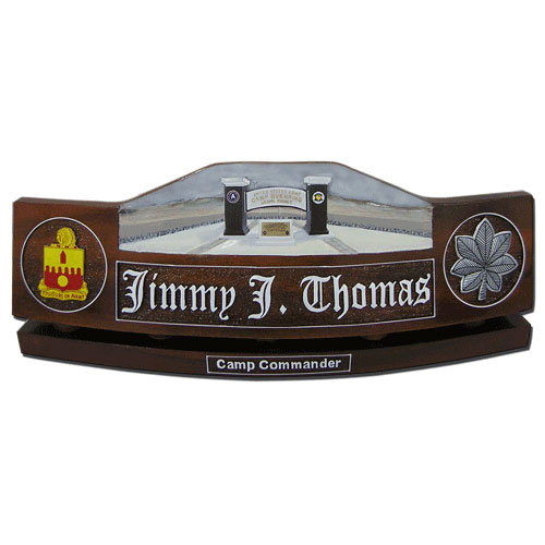 US Army Camp Buehring Desk Nameplate