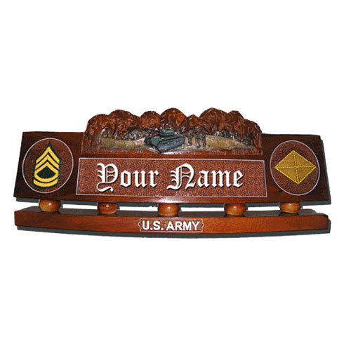 US Army Desk Nameplate Tank Model 2