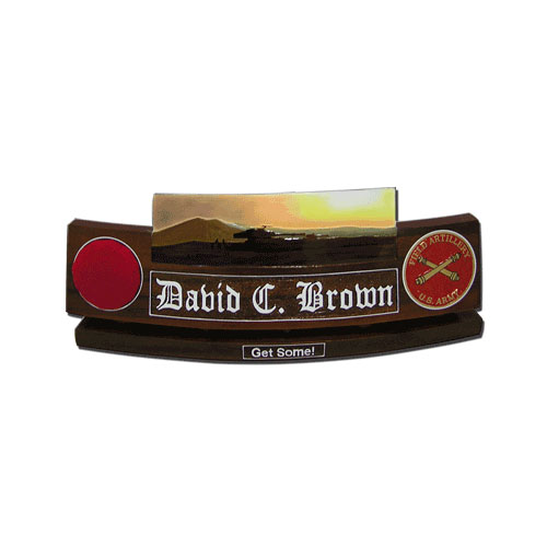 US Army Field Artillery Desk Nameplate