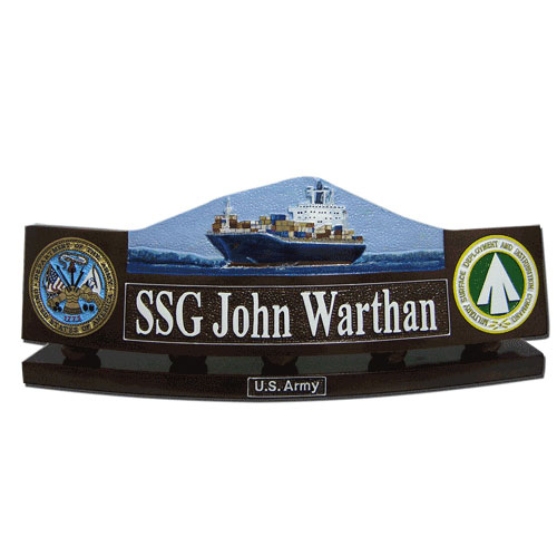 US Army SDDC Desk Nameplate
