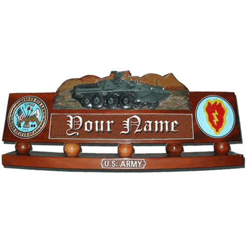 US Army Stryker Brigade Desk Nameplate