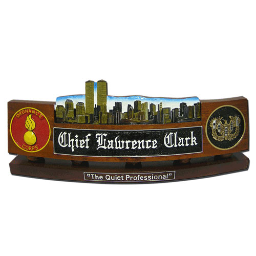 US Army Twin Tower Desk Nameplate