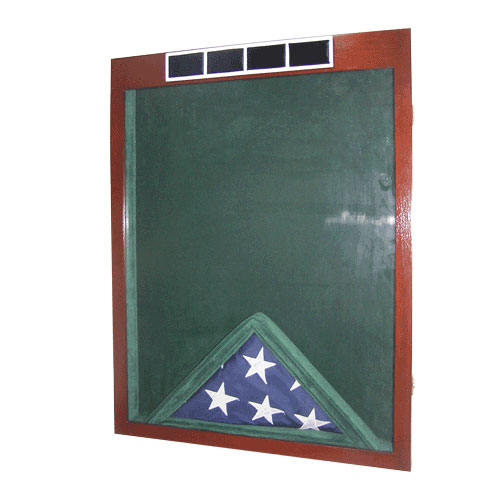 US Army W4 Retirement/Shadow Box Natural Dark