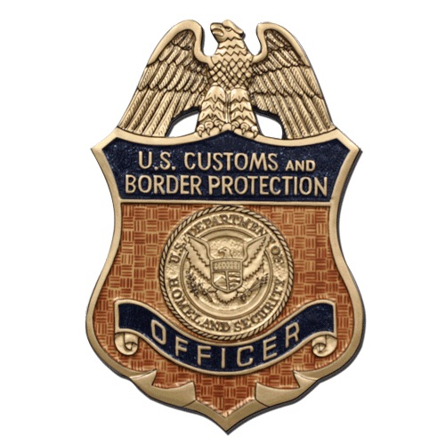 US CBP Officer Badge Plaque