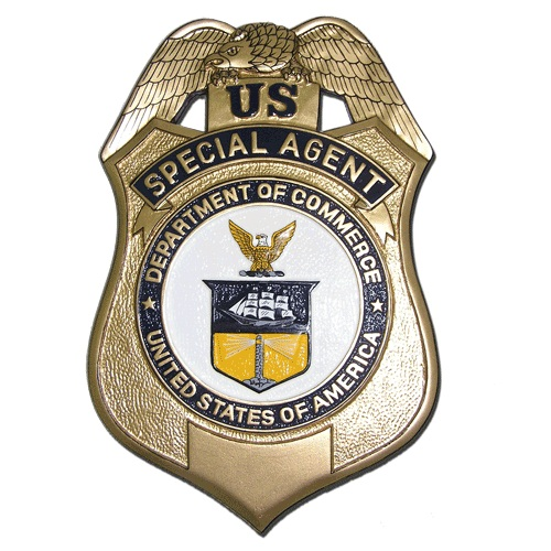 US Department of Commerce Special Agent Badge Plaque