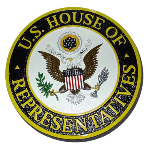 The US House of Representatives Seal / Podium Plaque