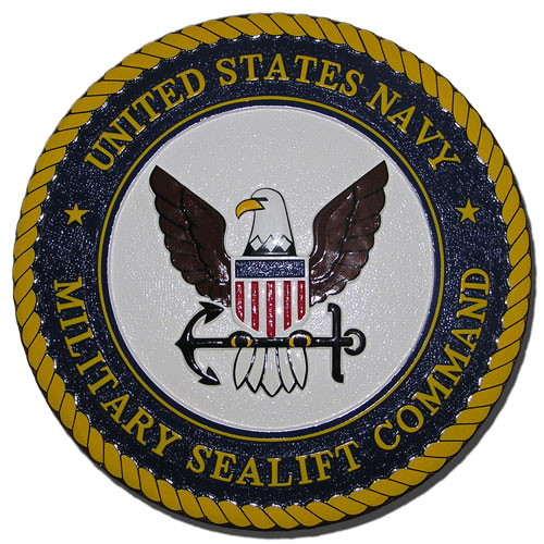 US Navy Military Sealift Command MSC Seal  / Podium Plaque