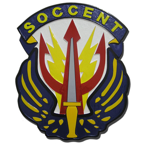 U.S. Special Operations Command Central  SOCCENT Seal Plaque