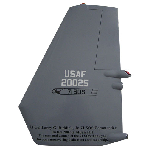 USAF CV-22 Osprey NM Tail Flash Wall Plaque